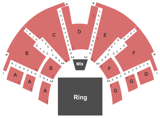 Center Stage Theatre Seating Chart: WWE