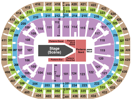 Centre Bell Seating Chart
