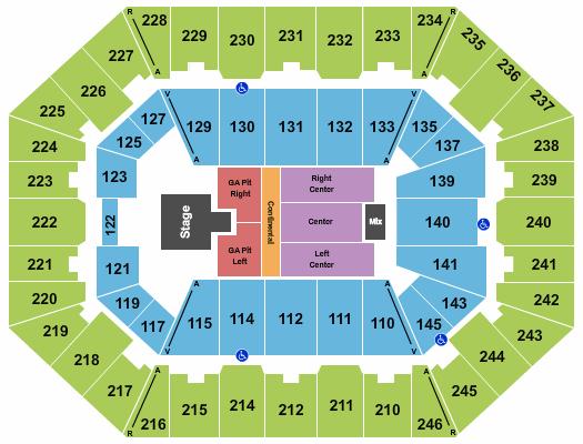 Charleston Coliseum & Convention Center - Charleston Seating Chart: Jason Aldean 2