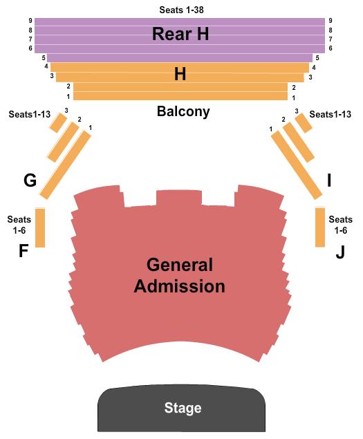 Charleston Music Hall Seating Chart