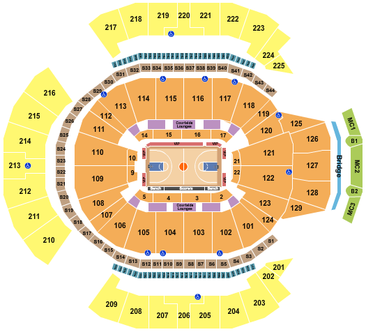 Chase Center Seating Chart