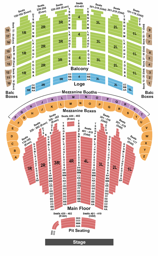 The Chicago Theatre Seating Chart