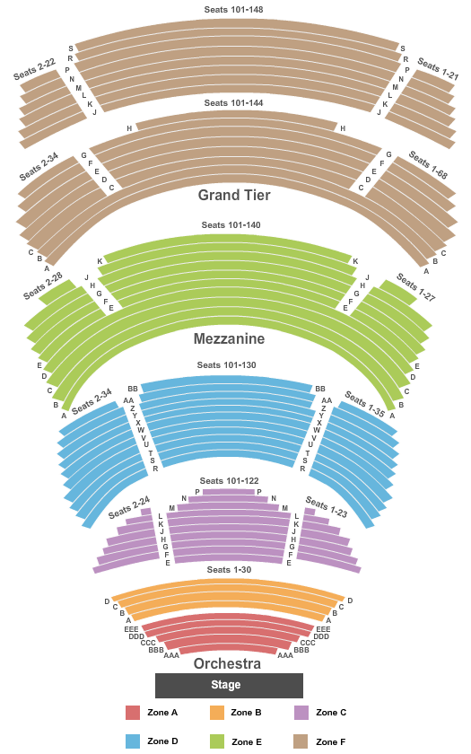 Cobb Energy Performing Arts Centre Seating Chart: End Stage Int Zone