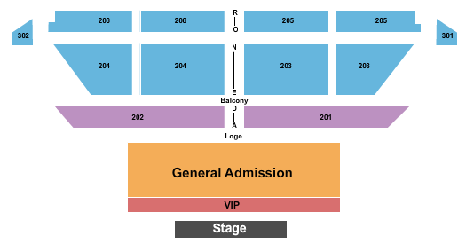 College Street Music Hall Seating Chart
