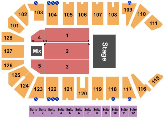 Comerica Center Seating Chart: Cirque Musica