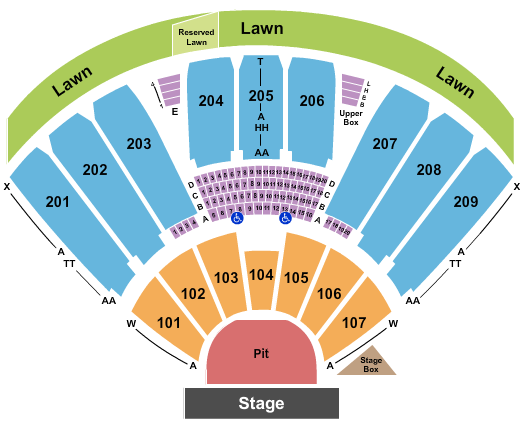 Concord Pavilion Seating Chart