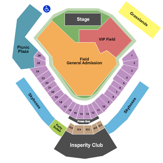 Constellation Field Seating Chart
