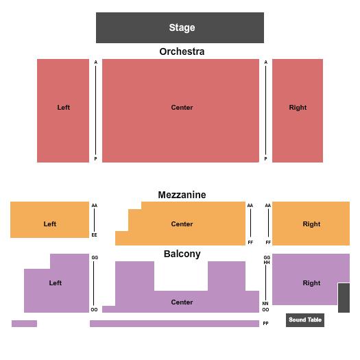 Crighton Theatre Seating Chart