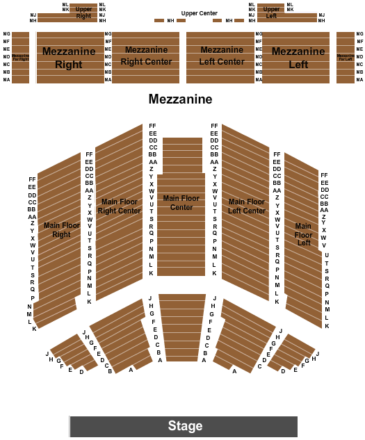 Crystal Grand Music Theatre Seating Chart