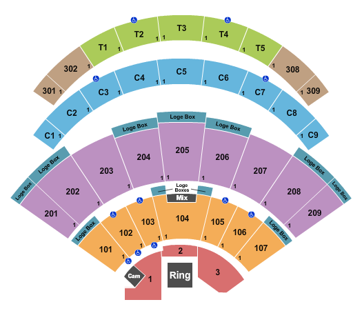 Daily's Place Amphitheater Seating Chart