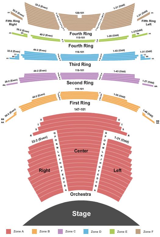 David H. Koch Theater Seating Chart