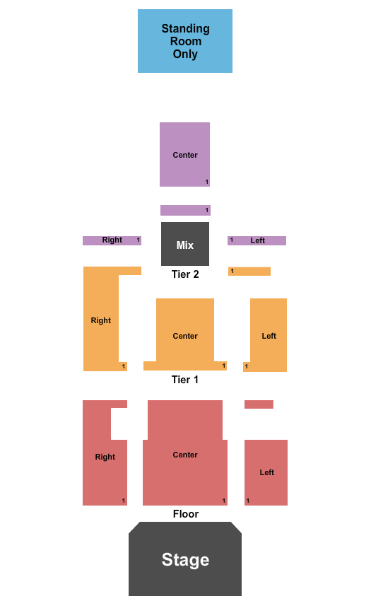 Delmar Hall Seating Chart