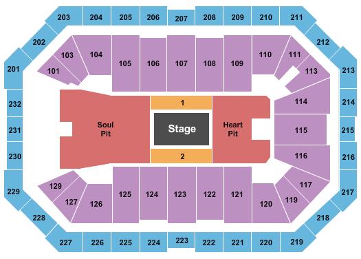 Dickies Arena Seating Chart: Eric Church