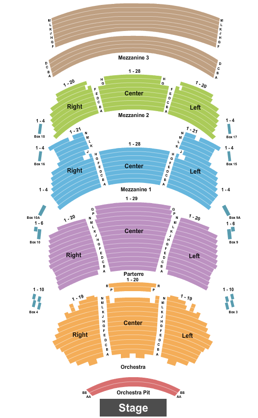 Dolby Theatre Seating Chart