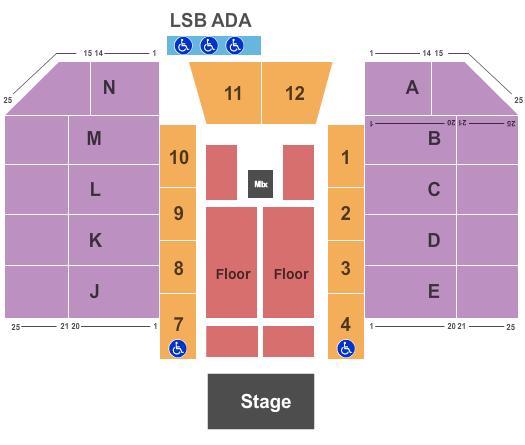 Don Barnett Arena Seating Chart
