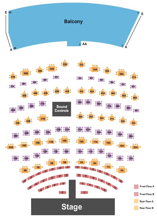 Flamingo Showroom at Flamingo Las Vegas Seating Chart