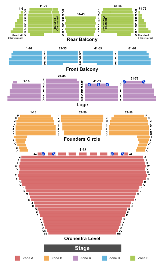 Dorothy Chandler Pavilion Seating Chart