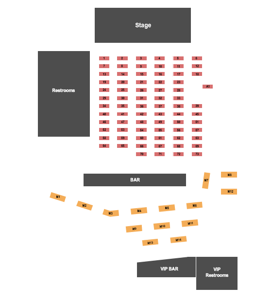 EPIC Event Center Seating Chart