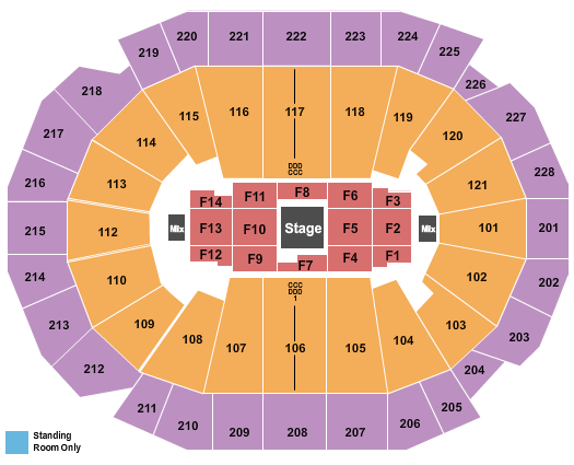 Fiserv Forum Seating Chart