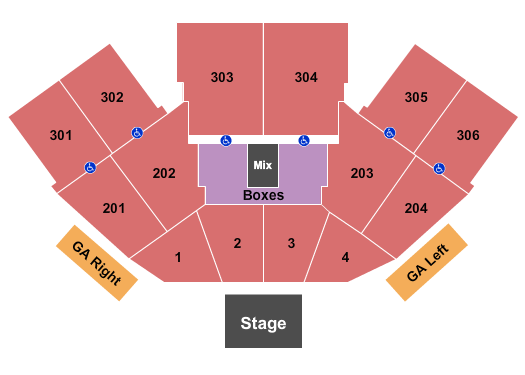 FivePoint Amphitheatre Seating Chart: Endstage 2