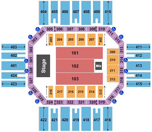 Florence Civic Center Seating Chart: Alabama