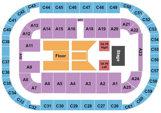 Arena At Ford Idaho Center Seating Chart