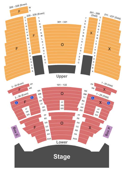 The Fox Theatre at Foxwoods Seating Chart