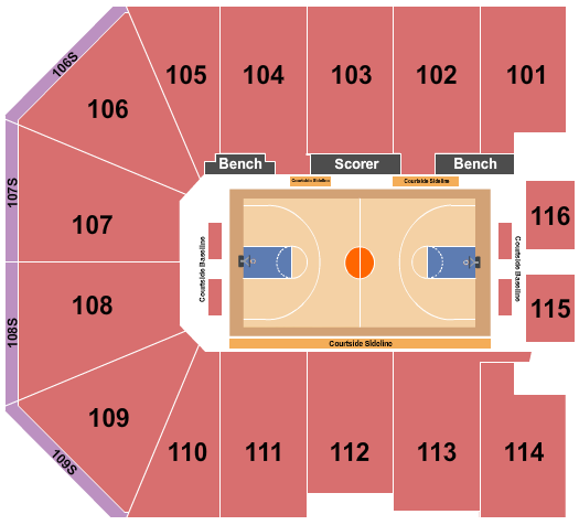 Gateway Center Arena At College Park Seating Chart