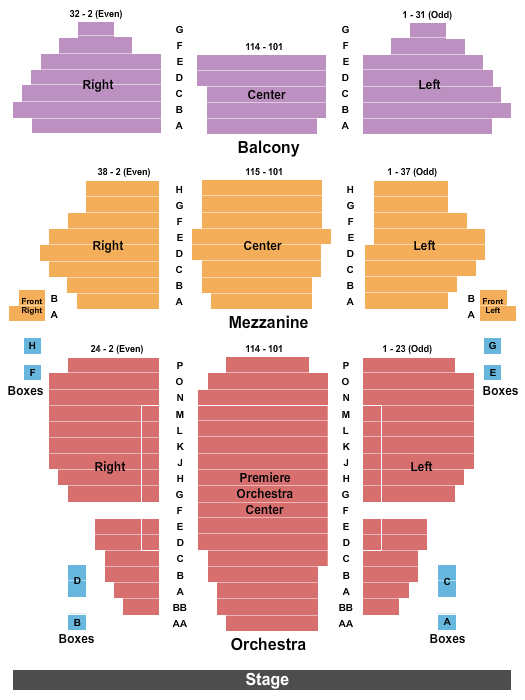Geary Theatre Seating Chart