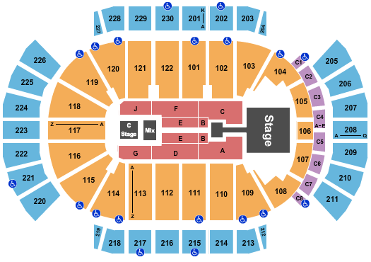 Gila River Arena Seating Chart