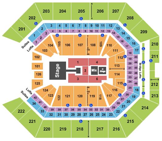 Golden 1 Center Seating Chart