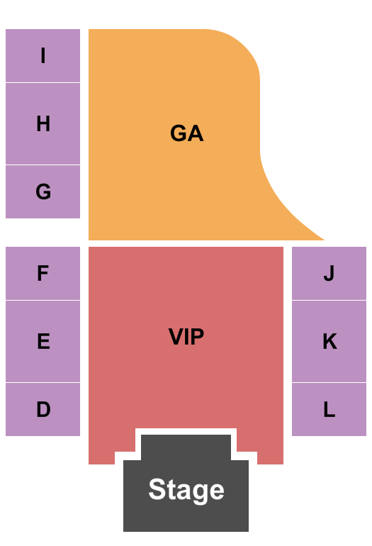 H20 Outdoor Concert at Golden Nugget Seating Chart