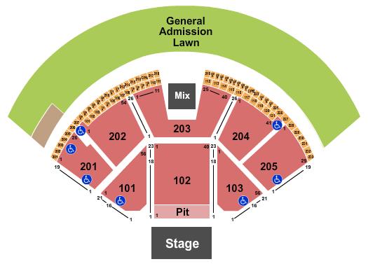 Gorge Amphitheatre Seating Chart