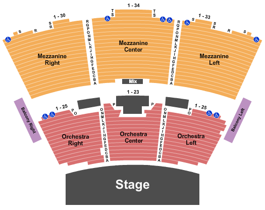 Grand Sierra Theatre Seating Chart: End Stage