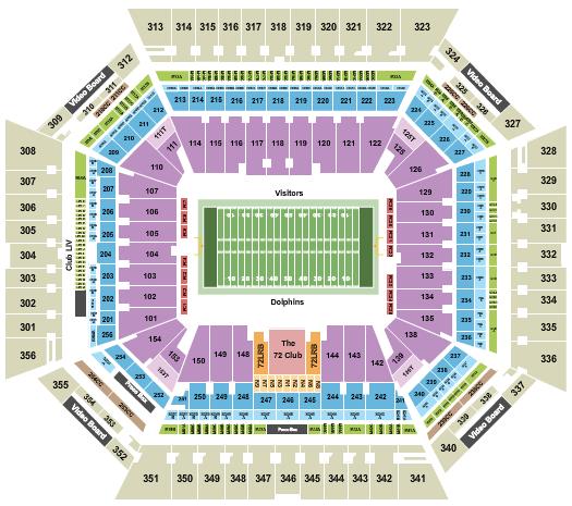 Hard Rock Stadium Seating Chart