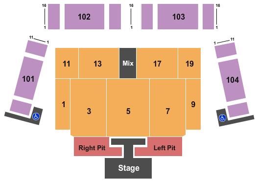 Lake Tahoe Outdoor Arena at Harveys Seating Chart