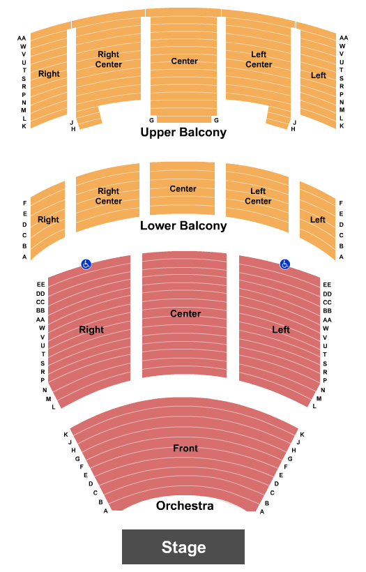Heritage Theatre At Dow Event Center Seating Chart
