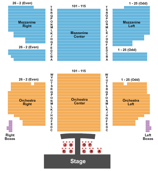 Hirschfeld Theatre Seating Chart