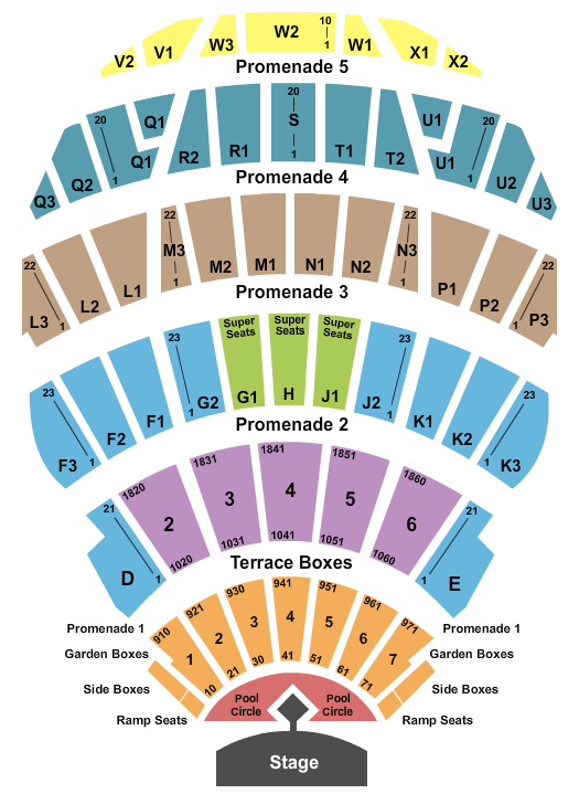 Hollywood Bowl Seating Chart