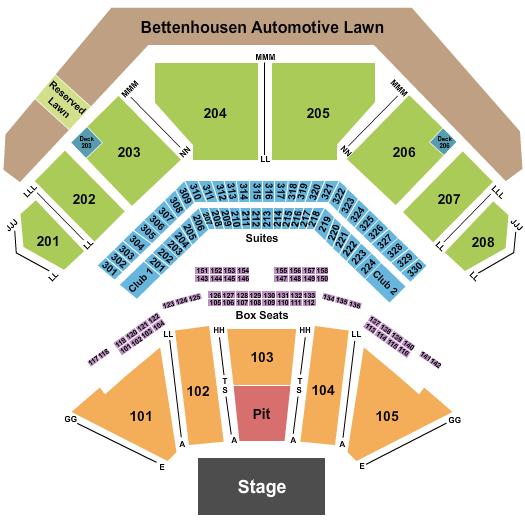 Hollywood Casino Amphitheatre Seating Chart