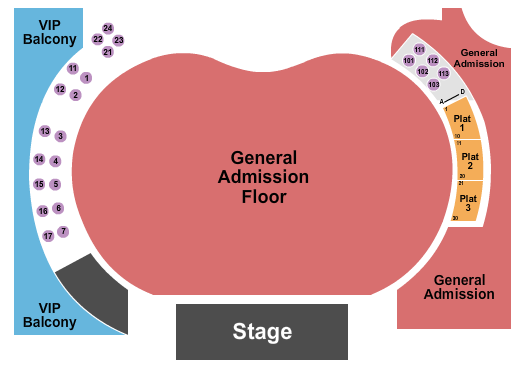 Hollywood Palladium Seating Chart: Brockhampton