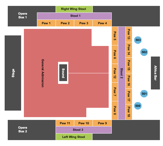 House Of Blues - Myrtle Beach Seating Chart: Riley Green