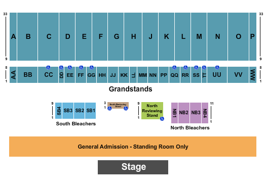 Illinois State Fairgrounds Seating Chart