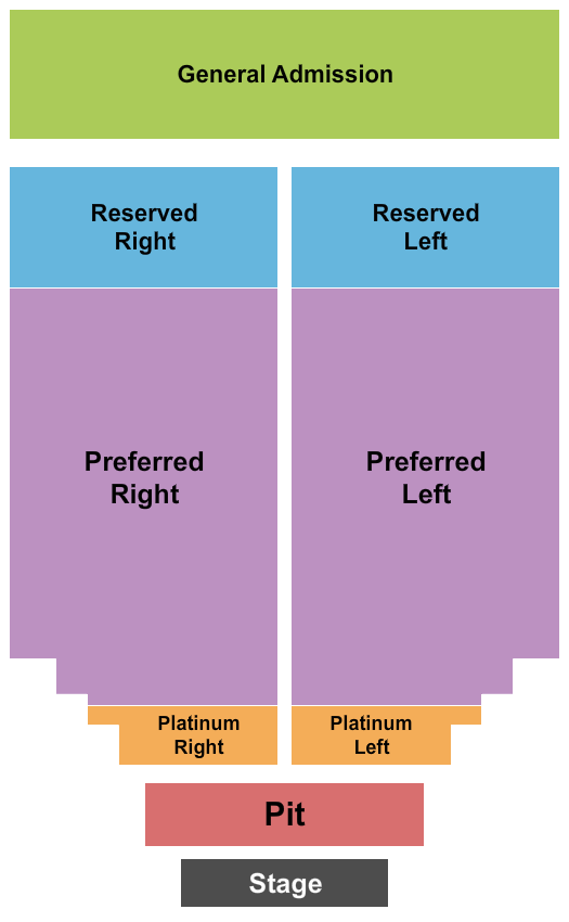 Meadow Event Park Seating Chart: Endstage Pit