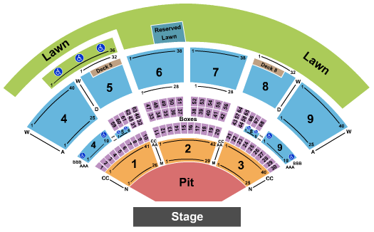 Isleta Amphitheater Seating Chart: Backstreet Boys