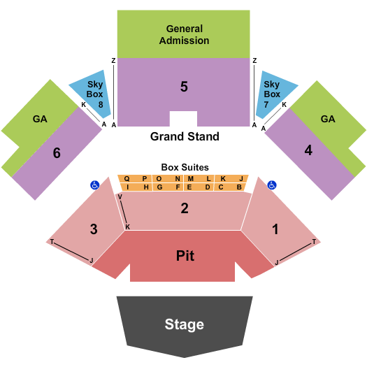 Jacobs Pavilion Seating Chart