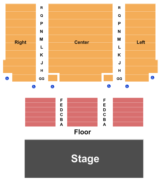 Janet & Ray Scherr Forum Theatre Seating Chart
