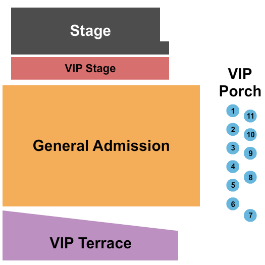 John T. Floore Country Store Seating Chart: Endstage 2