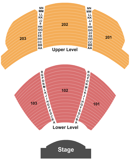 KA Theatre at MGM Grand Seating Chart: Endstage 2