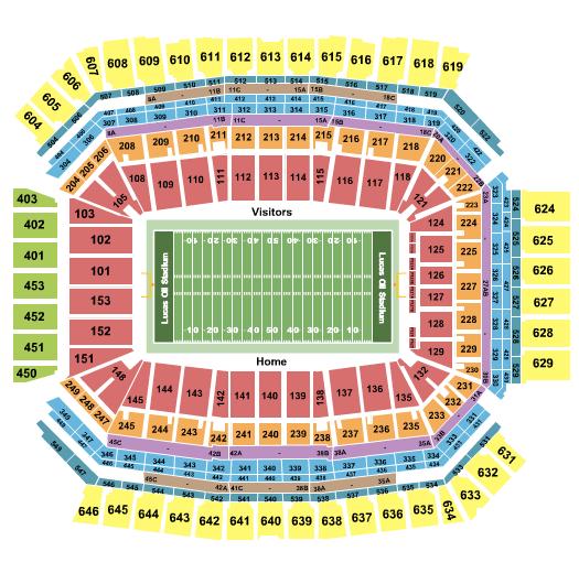Lucas Oil Stadium Seating Chart: Football